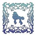 Poodle Blue Ornamental Lattice