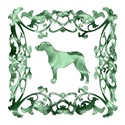 Rhodesian Ridgeback Green Ornamental Lattice