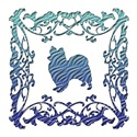 Papillon Blue Ornamental Lattice