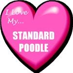 I Love My Standard Poodle T-Shirts