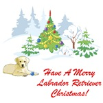 Merry Labrador Retriever Christmas T-Shirts