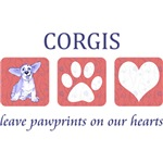 Welsh Corgi Paw Prints T-Shirt