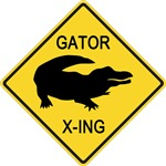 Alligator Crossing Sign