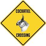 Cockatiel Crossing Sign