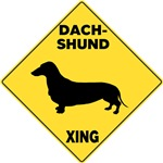 Dachshund Crossing Sign