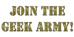 Join The Geek Army (Camo Circuit Board!) T-Shirts 