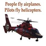 Pilots fly helis
