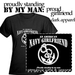 An American Navy Girlfriend Dark Apparel Items
