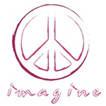 Imagine - Peace Symbol - Pink