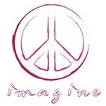 Imagine - Peace Symbol - Pink