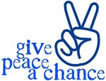 Give Peace a Chance - Hand Sign - Blue