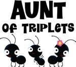 Aunt of Triplets T-shirts and Gifts
