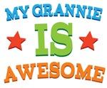 My Grannie Is Awesome Kids Tshirts