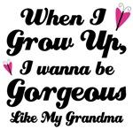 Gorgeous Like My Grandma kids t-shirts