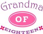 Grandma Of Eighteen T-shirt Gifts