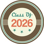 Vintage Class of 2026 School T-shirts