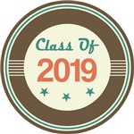 Vintage Class of 2019 School T-shirts