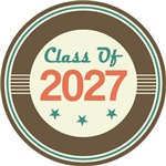 Vintage Class of 2027 School T-shirts
