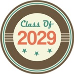 Vintage Class of 2029 School T-shirts