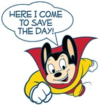 Mighty Mouse Save The Day T-shirts