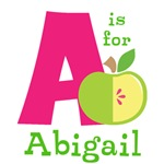 Custom Letter A Personalized Kids Tees