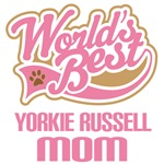 Yorkie russell Dog Mom T-shirts