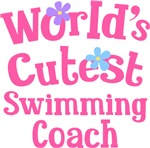 Worlds Cutest Swimming Coach Gifts and Tshirts