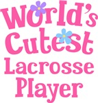 Worlds Cutest Lacrosse Player Gifts and Tshirts