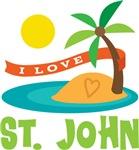 I Love St. John T-shirts