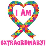I Am Extraordinary Autism Ribbon