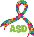 Autism ASD Puzzle Ribbon