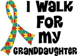 Autism I Walk For My Granddaughter T-shirts