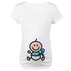 Teal Awareness Ribbon Maternity Tshirts