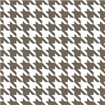 Houndstooth Brown White gifts