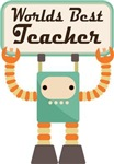 School Teacher Retro Robot Gifts and Shi