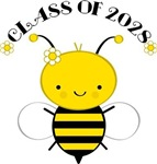 Class Of 2028 cute bee Tshirts