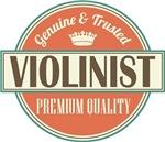 Violinist Gift vintage logo