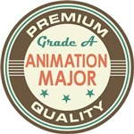 Animation Major vintage college look tees