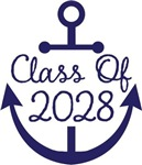 Class of 2028 School Anchor Nautical Tees