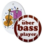 Fun BASS PLAYER Christmas Ornaments