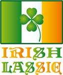IRISH LASSIE St. PATRICK'S SLOGAN T-SHIRTs