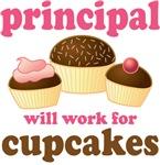 Funny Cupcake School Principal T-shirts and Gifts