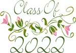 Pink Flowered Class Of  2022 Graduation Gi