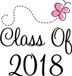Butterfly Class Of 2018 T-shirts