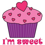 I'm Sweet Pink Cupcake T-shirts
