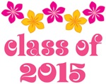 Tropical Floral Class Of 2015 Grad T-shirt
