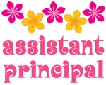 Flowered Assistant Principal Gift T-shirts