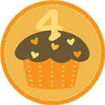4th Birthday Cupcake T-shirts And Gifts