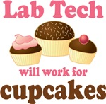 Funny Lab Tech Cupcakes T-shirts