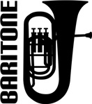 Music Silhouette Baritone Horn T-shirts and Gifts